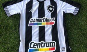 Leilão de camisa LGBT do Botafogo vai até próximo dia 22