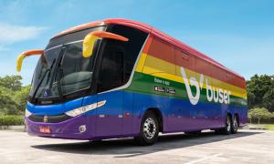 Ônibus arco-íris da Buser rodarão estradas brasileiras